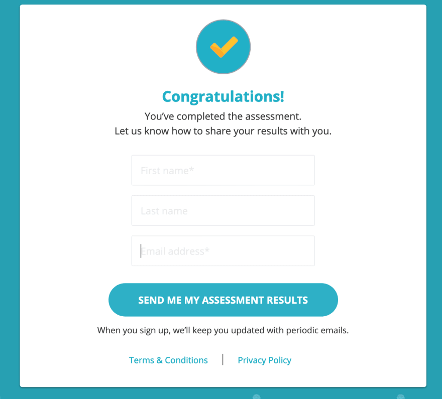 A signup form with no labels and extremely poor contrast for placeholder text