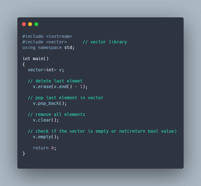 deleting vector elements