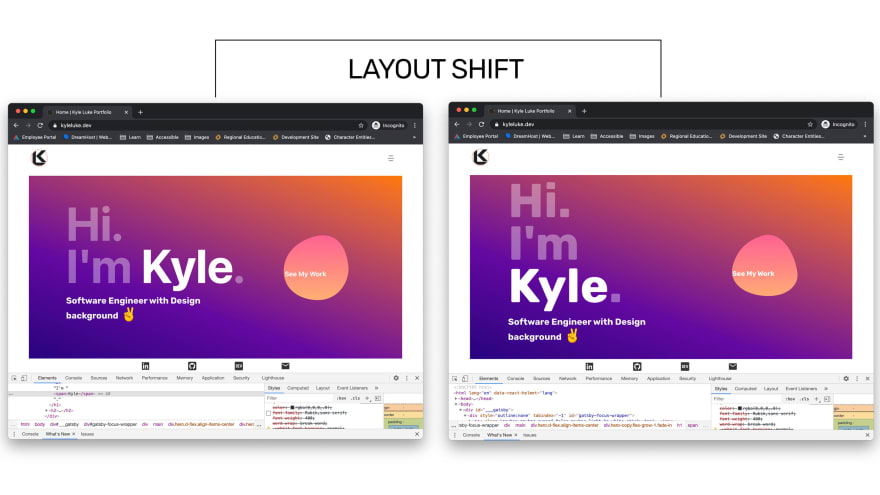 Font Layout Shift Example