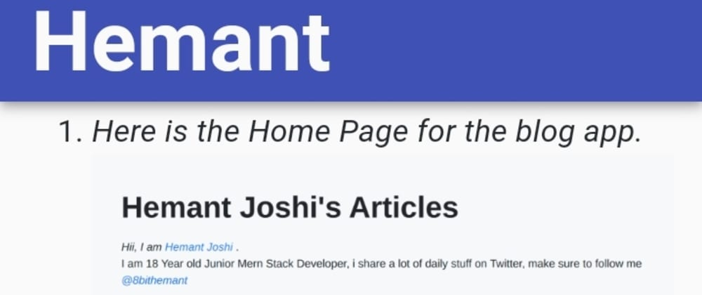 Cover image for I Created My Blog Using DevTo api and React Js💛, Here is how to...