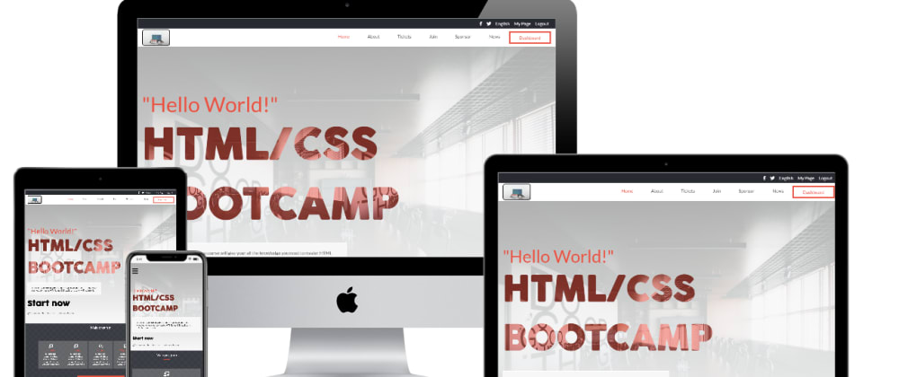 Cover image for How I built a conference web page with Bootstrap 4 and CSS properties
