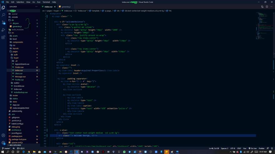 Folder Structure for Generator.js and Database.json