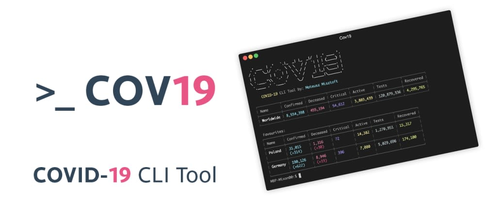 Cover image for Cov19 - COVID-19 CLI tracking tool