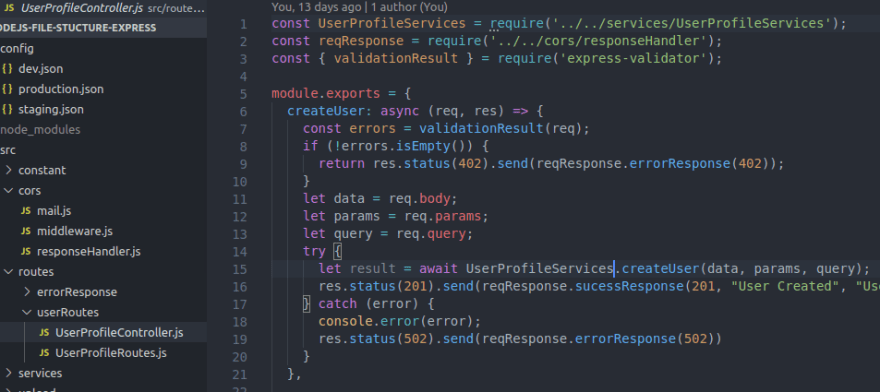 Routes Folder Sample
