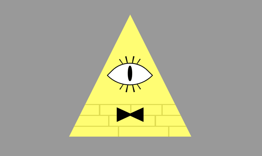 The previous triangle with eye and bowtie, this time with eyelashes too