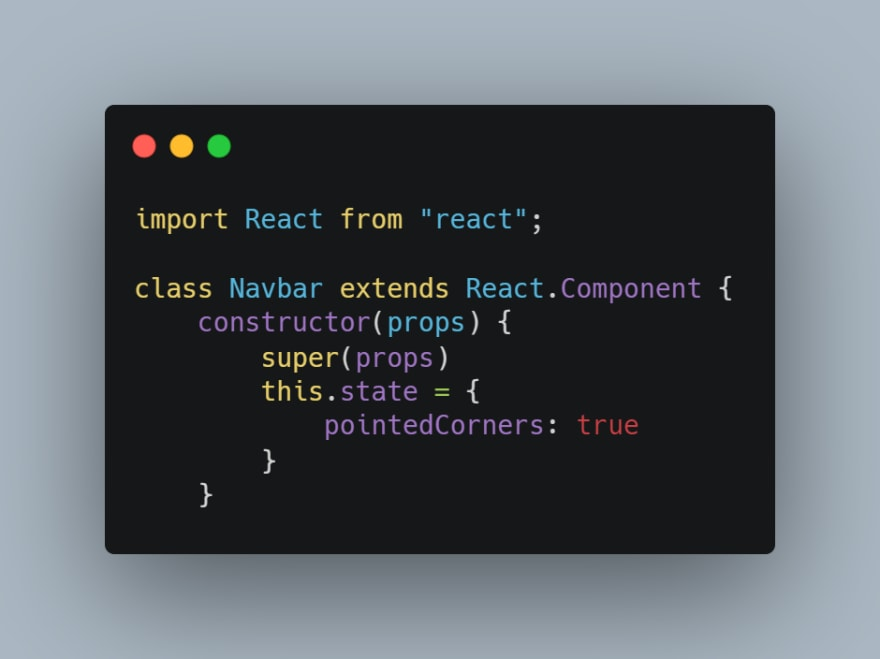 code snippet of constructor