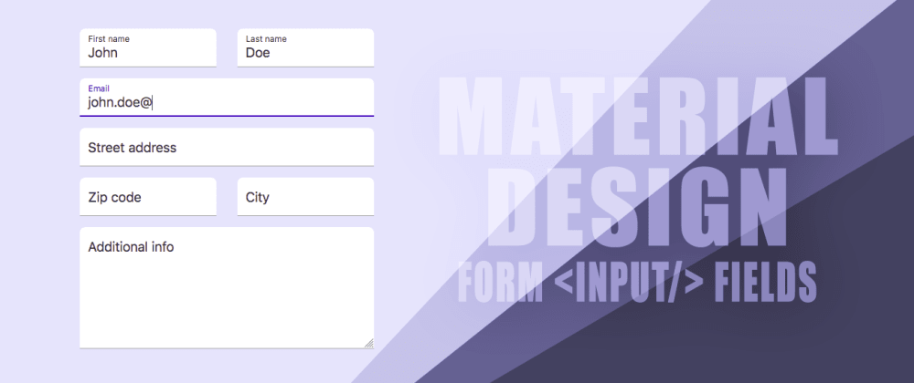 Cover image for How to create Material Design like form text fields with floating label and animated underline bar