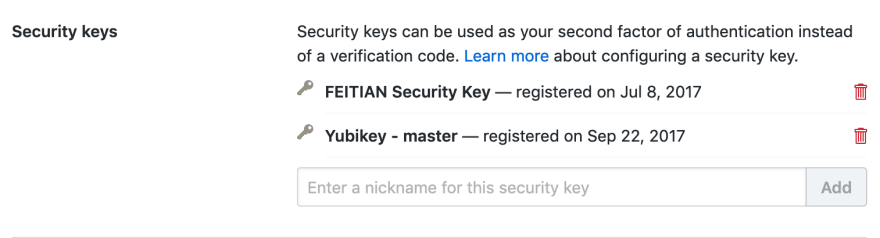 Add New Key Name