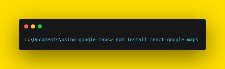 install react google maps