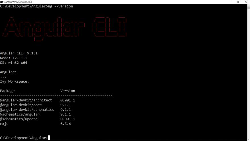 Checking version of Angular CLI on your Machine