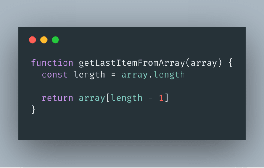 A function that returns the last item of an array