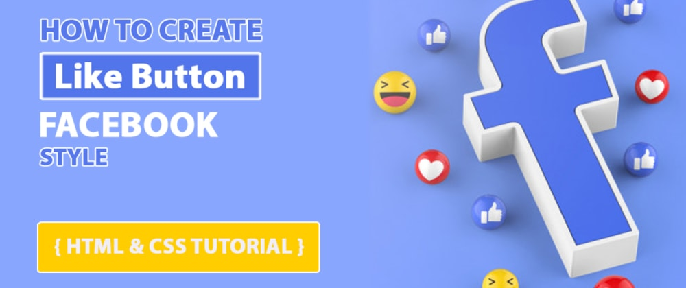 Cover image for Animated Like Button with HTML CSS & JS