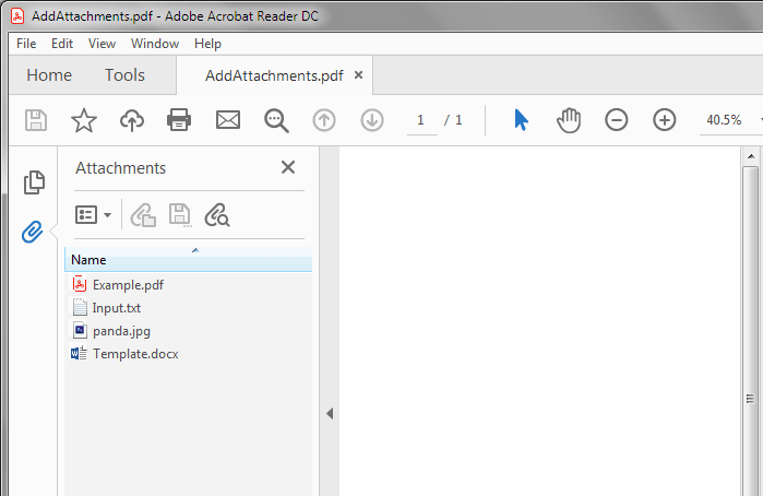 Add attachments to pdf