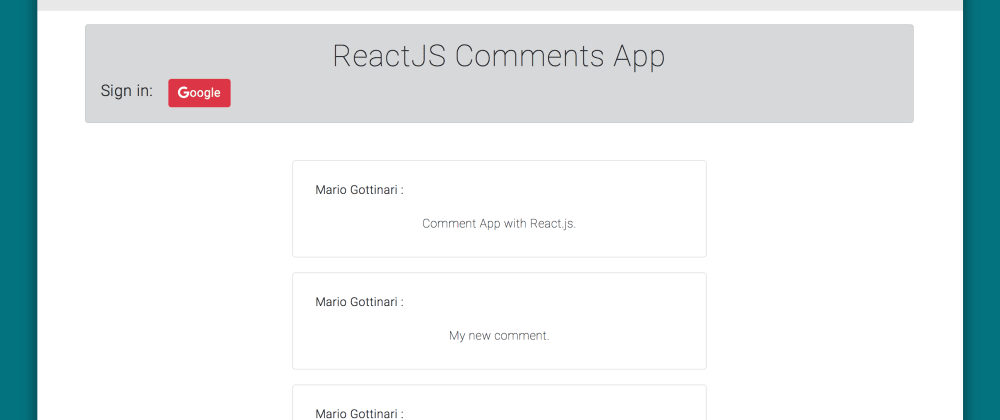 Cover image for React Comments App