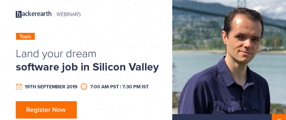 Cover image for Webinar - Land your dream software job in Silicon Valley