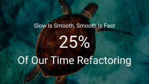 Slow Is Smooth, Smooth Is Fast - Refactoring