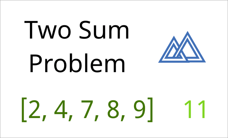 Two Sum Problem [2, 4, 7, 8, 9] 11