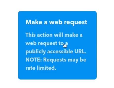 click make a web request