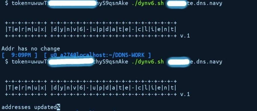 dynv6 updater
