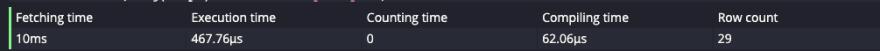 questdb exec time