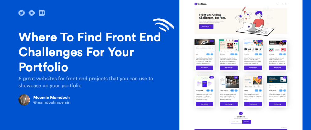 Cover Image for 7 Websites To Find Front End Projects For Your Portfolio