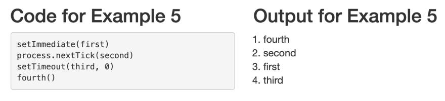 Example 5 — process.nextTick