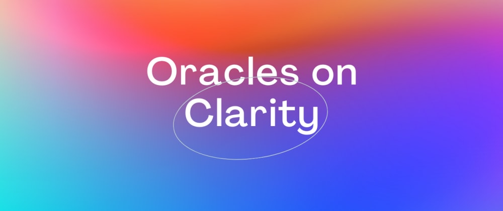 Cover image for Oracles on Clarity