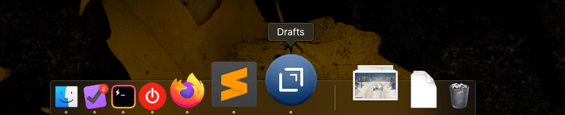 A screenshot of the default Mac dock.