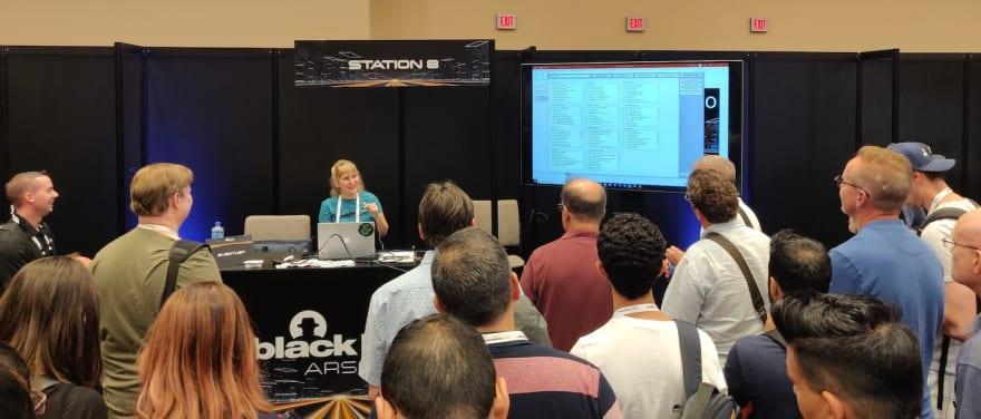 "Microsoft's own Miriam Wiesner presenting ""EventList"""
