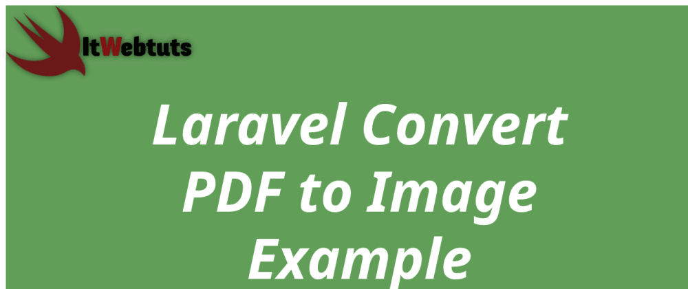 Cover image for Laravel Convert PDF to Image Tutorial