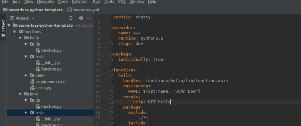 My Python Serverless Setup