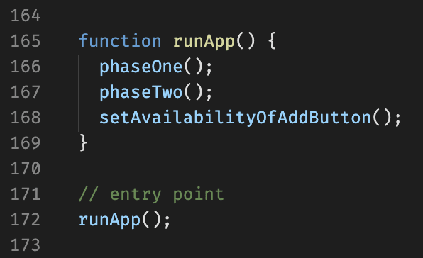 The entry point to our simple React