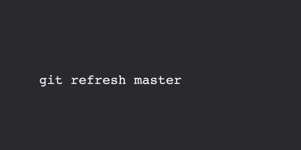 """How to write your own git commands like """"git refresh""""?"""
