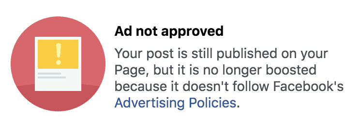 Ad Not Approved