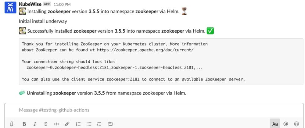 Cover image for Show DEV: K8s Slack bot for Helm installs