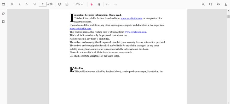 JavaScript PDF Viewer default view