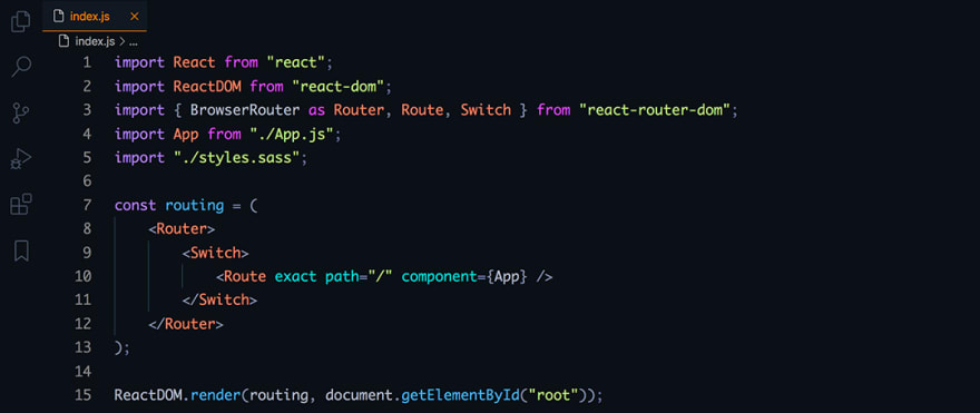 React code snippet with the Dobri Next - C09 - Eve theme