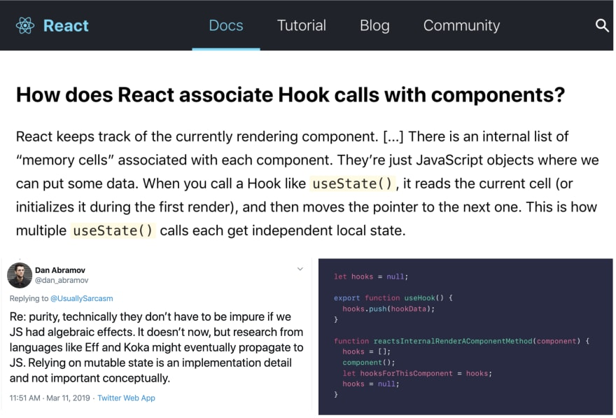 Hooks are not typical functions