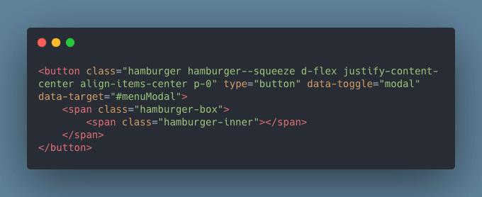 Hamburger icono animado por CSS