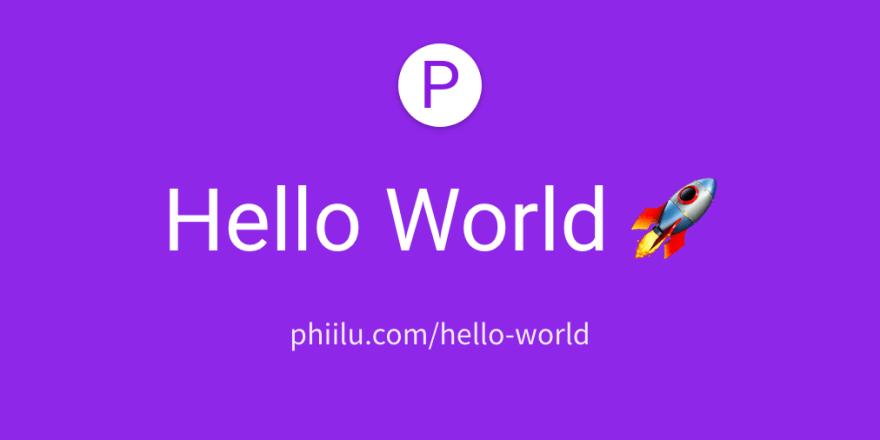 Hello World 🚀