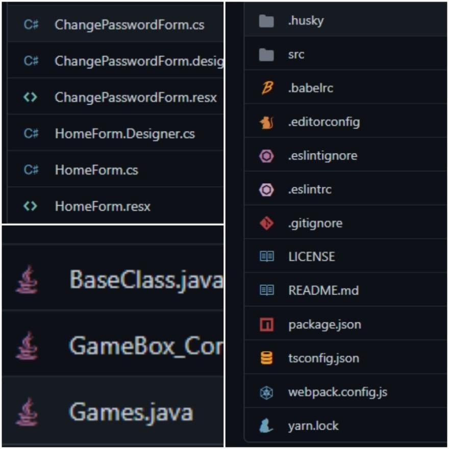 File Icons screenshot for Github extension