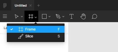 figma frame tool
