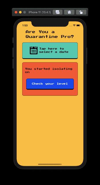 Quarantine Pro React Native App