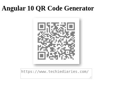 Angular 10 QR Codes Generator