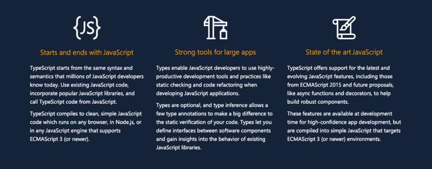 [TypeScript](https://typescriptlang.org) main features