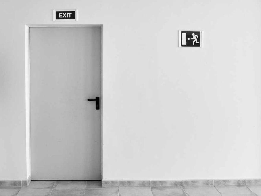 An exit door