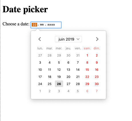 rendering of date picker in FF