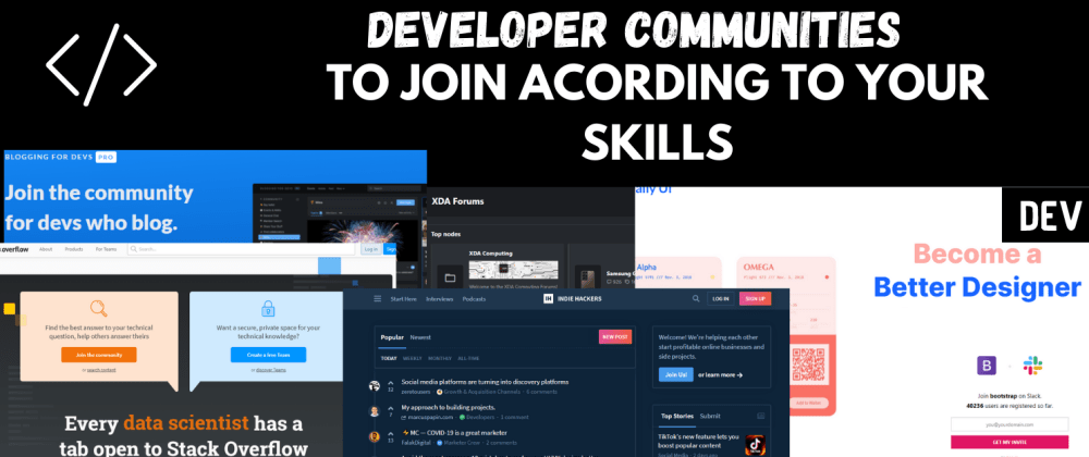Cover Image for Developer Communities Every Developer should Join According to your niche.
