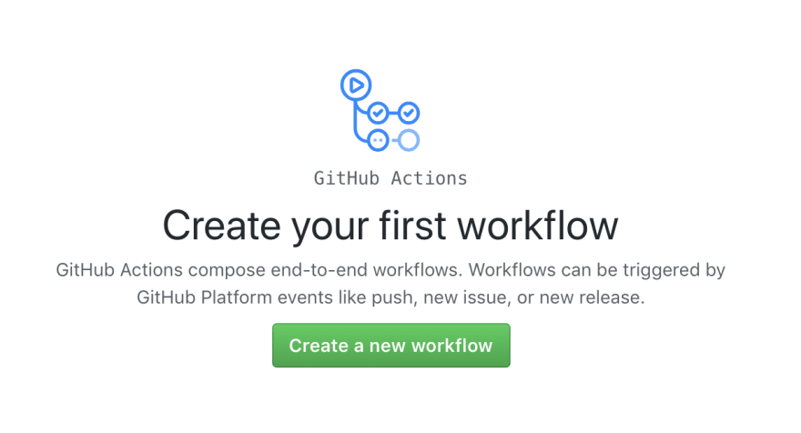 Create your first workflow on GitHub