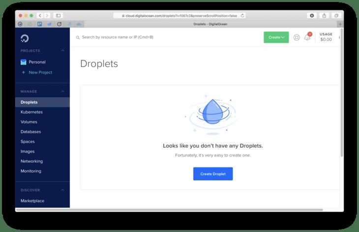 Create Droplet